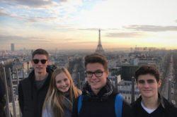 4 jeunes australiens au Vésinet durant 6 semaines