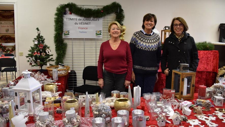 Le Comité de Jumelages sur le marché de Noël des commerçants