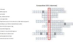 Solution des Mots croisés à l'occasion de la Journée de l'Europe